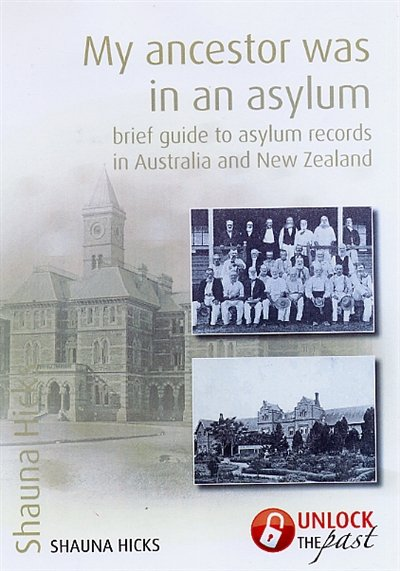 My Ancestor was in an Asylum (book cover)
